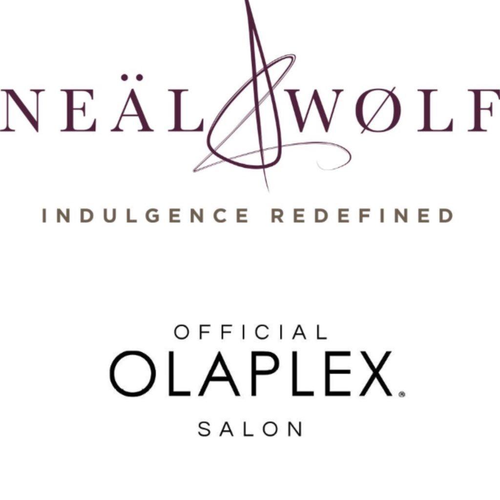 logos for Neal & Wolf and Olaplex